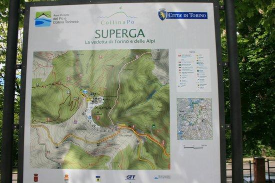 Basilica di Superga : Mapa de superga
