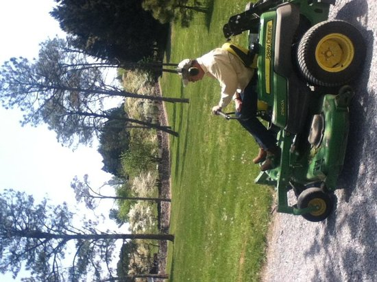 State Arboretum of Virginia: Rude lawn mower!