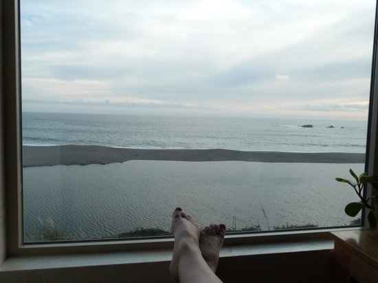 Seacliff Motel on the Bluff: View from the room first night