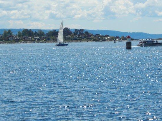 Bygdoy Peninsula: Вид  с полуострова на залив