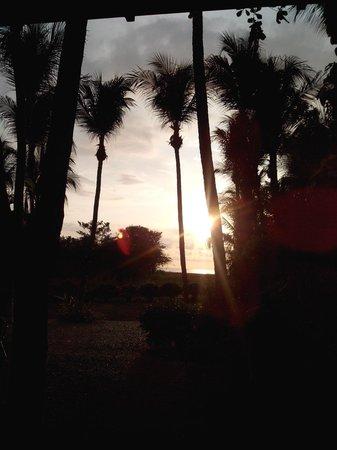 Hotel La Laguna del cocodrilo: Coucher de soleil