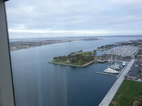 Hilton San Diego Bayfront: The Marina with Coronado Island in background