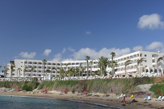 Alexander The Great Beach Hotel: View from the beach