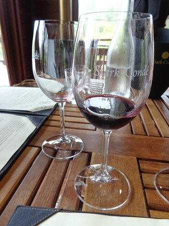 Cape Fusion Tours - Day Tours: Wine samples at the Stark-Condé winery