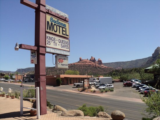 Sedona Motel: Breathtaking view!