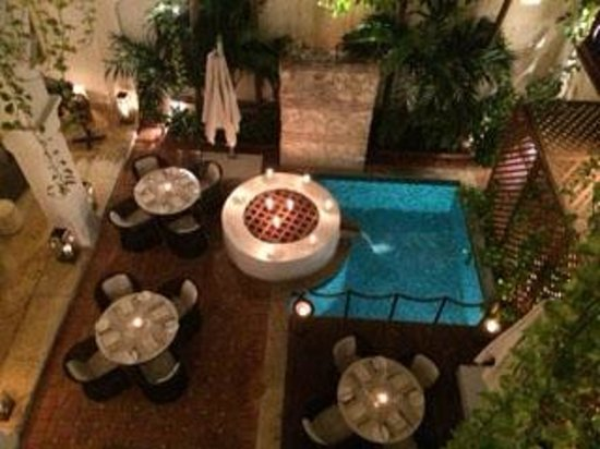 Hotel Casa San Agustin : Courtyard area of restaurant