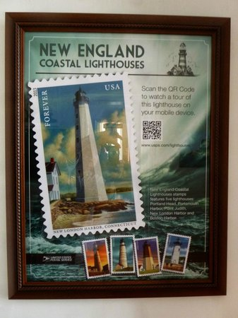 New London Harbor Light: the USPS poster for the 2013 Harbor Light stamp