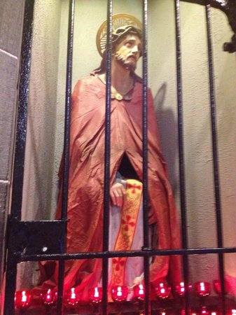 Redemptorist Church: Wooden statue of scourged Jesus (carved by a Redemptorist brother)
