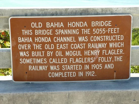 Bahia Honda State Park and Beach: History of the bridge