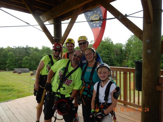 Kersey Valley Zip Line: Bobby and Cash made the trip an experience!
