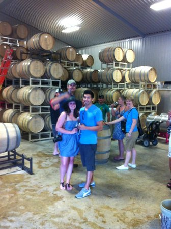 Cellar Rat Wine Tours: Chris putting on the show in the winery