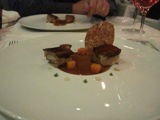 Restaurante La Salita: cochinillo con salsa de naranja