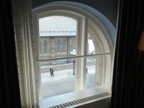 Park Hyatt Toronto: massive rounded windows in living room & master