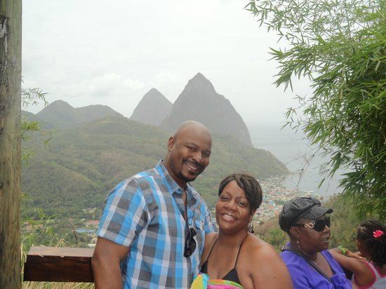Joe Knows Tours: a Great View of the Pitons in the background