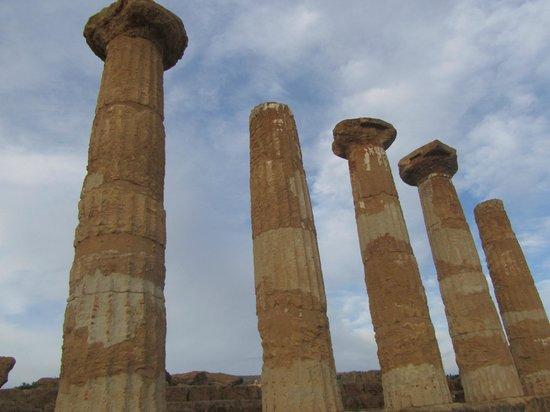 Tempio di Ercole: Vista dal basso