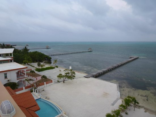Hol Chan Reef Villas: Day time from roof deck.
