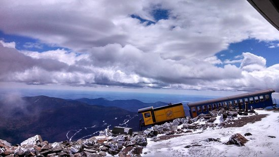 The Mount Washington Cog Railway : Up top/end of the line - first run of the season May 2014