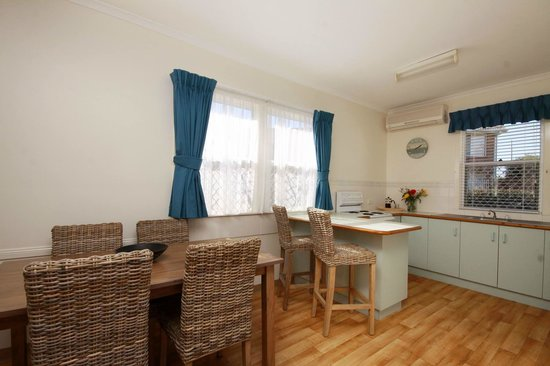 Forster Holiday Village: kitchen/dining in our three bedroom Cottages