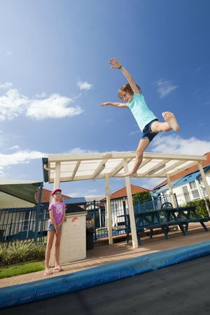 Forster Holiday Village: Our ground leevel tramoline is popular with our young guests