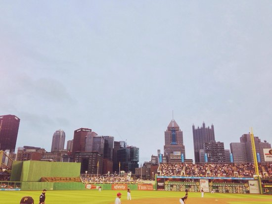 PNC Park: City skyline view.