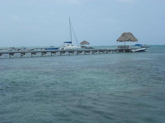 Hol Chan Reef Villas: dock view