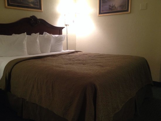 Quality Inn Elizabeth City: The queen size bed