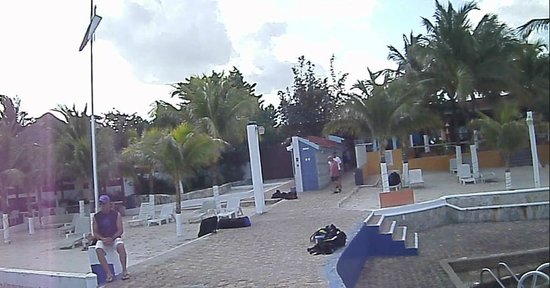 Hotel Cozumel and Resort: Lockers for scuba equipment by the dive shop