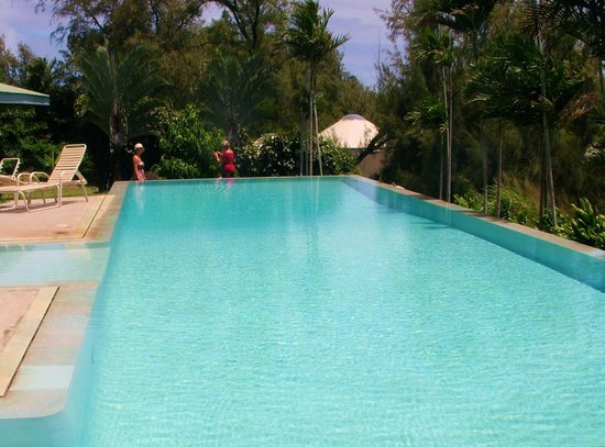 Hawaii Island Retreat at Ahu Pohaku Ho`omaluhia : Salt water infinity pool