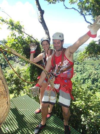 Vanuatu Jungle Zipline: having a blast!