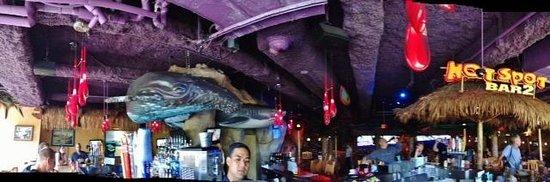Jimmy Buffett's at the Beachcomber : panaramic of bar