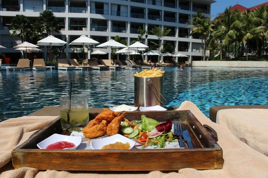 The Stones Hotel - Legian Bali, Autograph Collection: Food ordered from Pool Staff