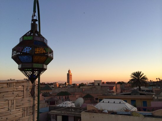 Riad Layla Rouge : View from the roof terrace.