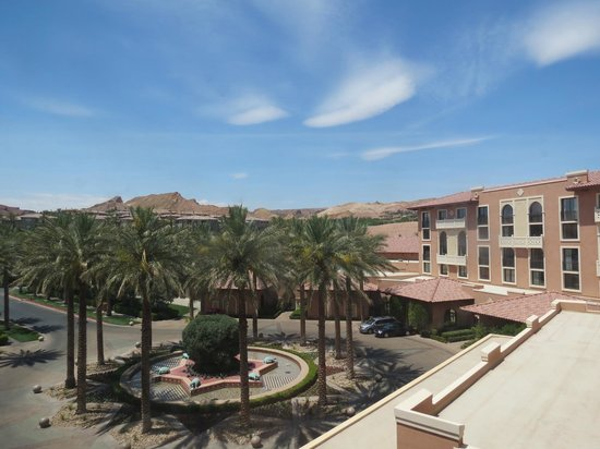 The Westin Lake Las Vegas Resort & Spa: from the 8th floor overlooking the parking lot