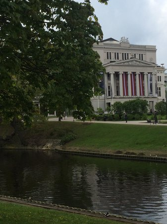 Latvian National Opera: National Opera from the City Canal