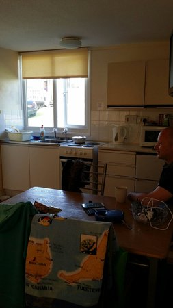 Whitecliff Bay Holiday Park: Kitchenette in value chalet