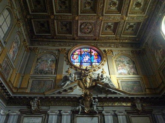 Basilica di Santa Maria Maggiore: Above the entrance of Santa Maria Maggiore