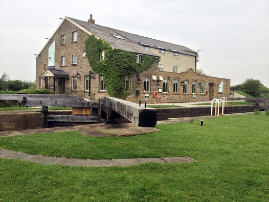 The Mill at Conder Green: Hotel from across the canal