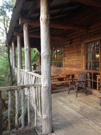 Lemonthyme Wilderness Retreat: Rear Balcony