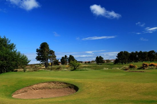 Carnoustie, UK: 10th Green Monifieth Medal Course