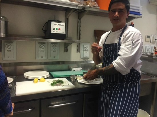 Saffire Freycinet: Cooking class in the main kitchen