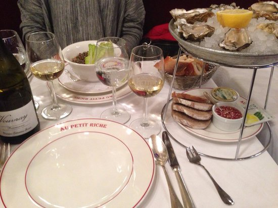 Au Petit Riche: A wonderful meal and a great wine list, the Loire is the speciality