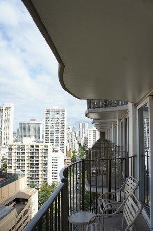 View from 18th floor Hilton Waikiki Beach