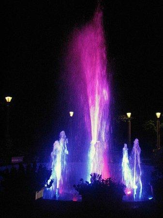 Evershine Keys Prima Resort: LED lit fountain