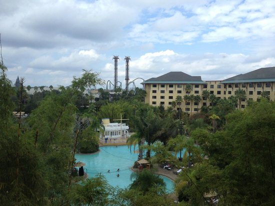 Loews Royal Pacific Resort at Universal Orlando: View from our room.