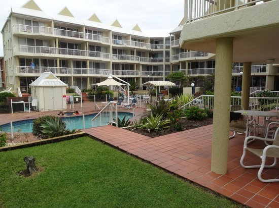 Crystal Beach Holiday Apartments: View from Ground Floor Apartment