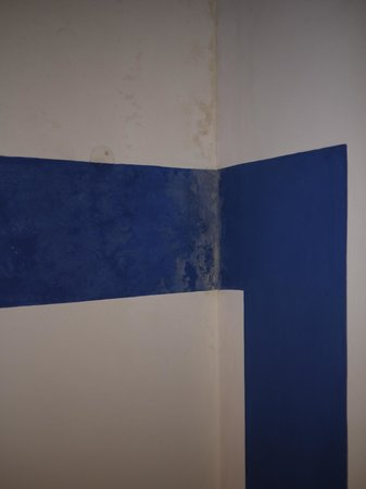 Rahul Guest House: Condition of the walls in Super Deluxe Room.