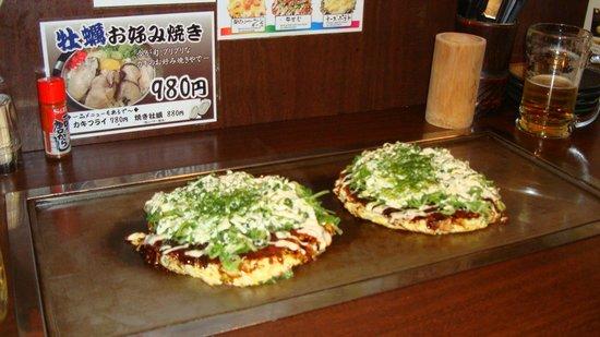 Yugiri no Yu Dormy Inn Premium Namba: Okonomiyaki!