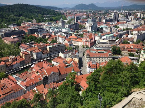BEST WESTERN Premier Hotel Slon: View of town from Castle