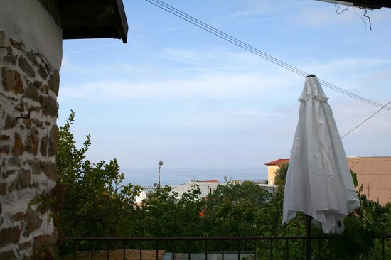 Ca de Pria: Vista mare dal terrazzino.