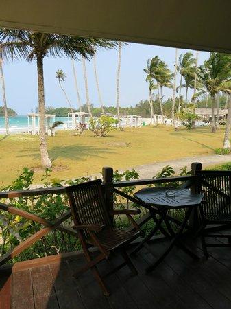 Nirwana Gardens Mayang Sari Beach Resort : view from our balcony